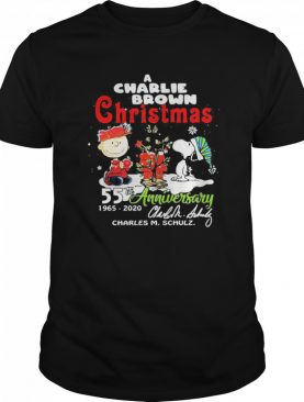 A Charlie Brown Christmas 55th Anniversary 1965-2020 Charles M Schulz Snoopy shirt
