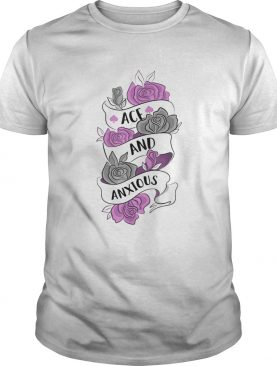 Ace And Anxious LGBT Pride Roses Asexual shirt