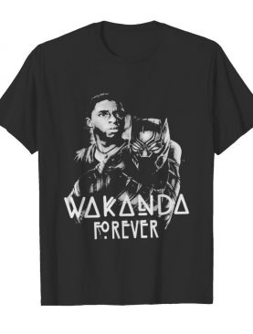 Black panther rip chadwick wakanda forever thank you for the memories 1977 2020 signature shirt