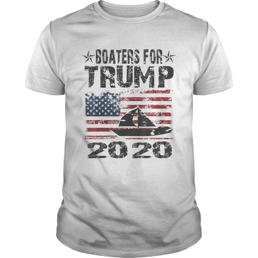 Boaters For Trump Conservative Vintage American Flag 2020  Unisex