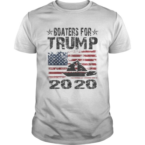Boaters For Trump Conservative Vintage American Flag 2020 shirt