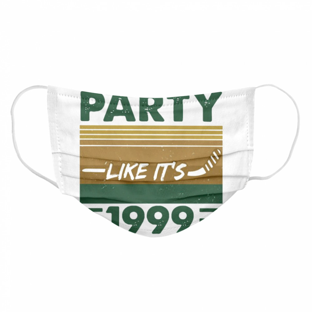 Dallas 2020 Party Like It's 1999 Vintage  Cloth Face Mask