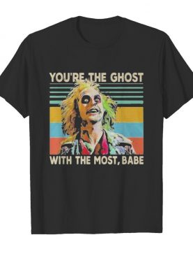 Halloween joker you're the ghost with the most babe vintage retro shirt