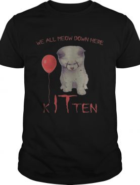 Halloween pennywise cat all meow down here kitten shirt