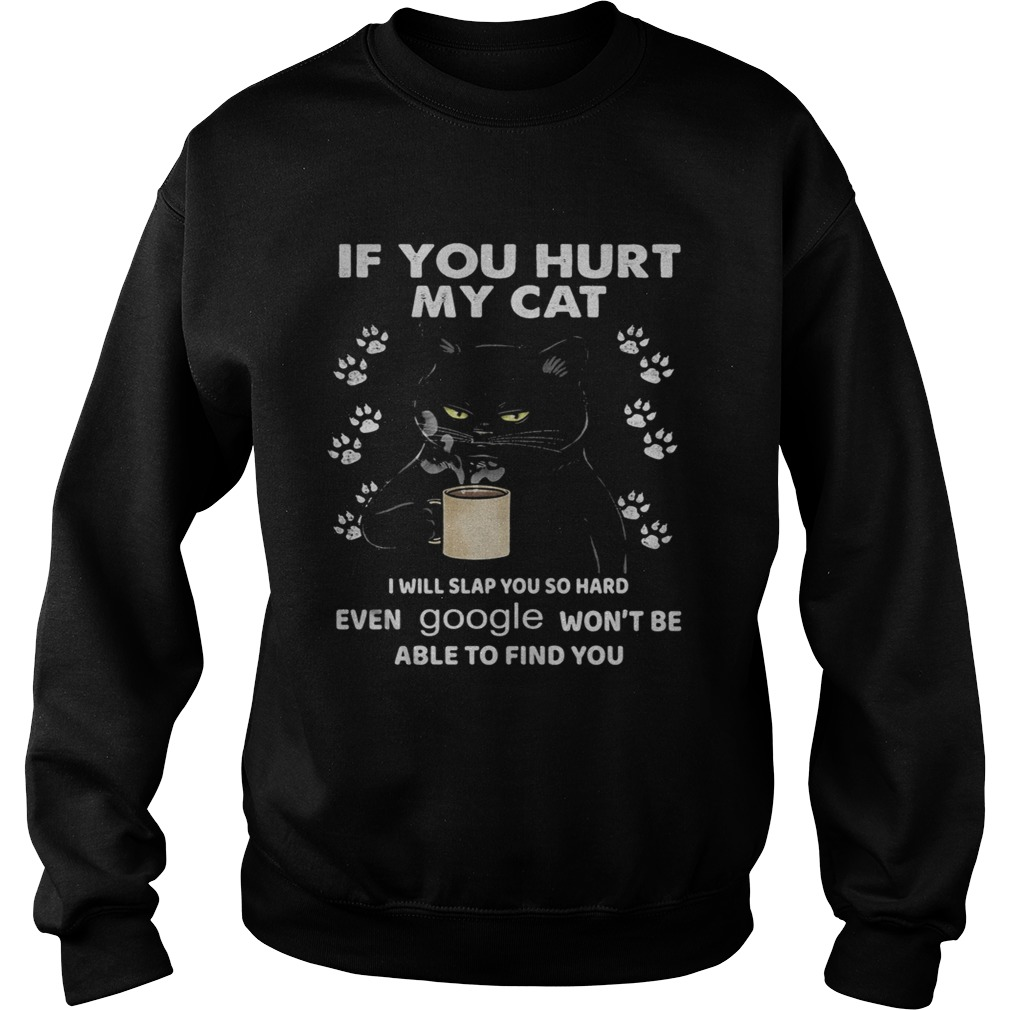If You Hurt My Cat I Will Slap You So Hard Even Google Wont Be Able To Find You  Sweatshirt