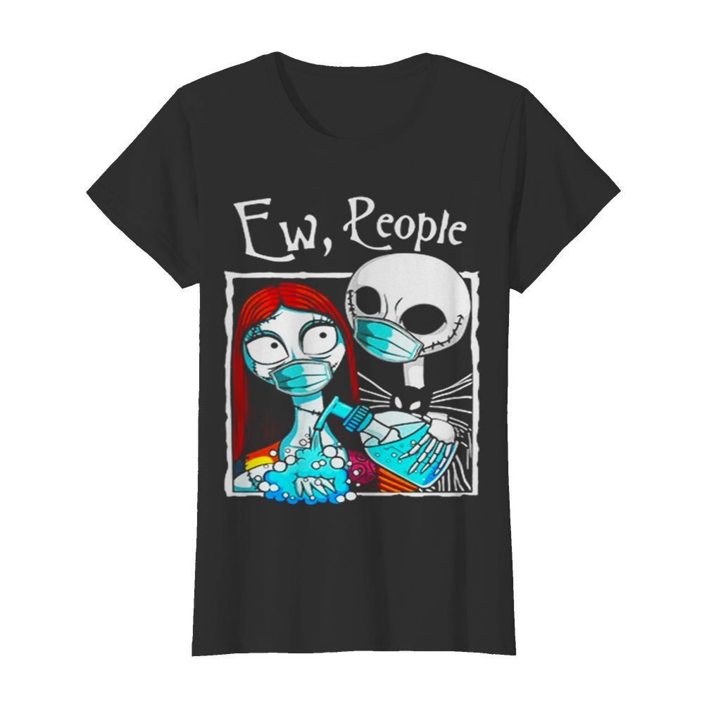 Jack And Sally Wearing Facemask Hand Sanitizer  Classic Women's T-shirt