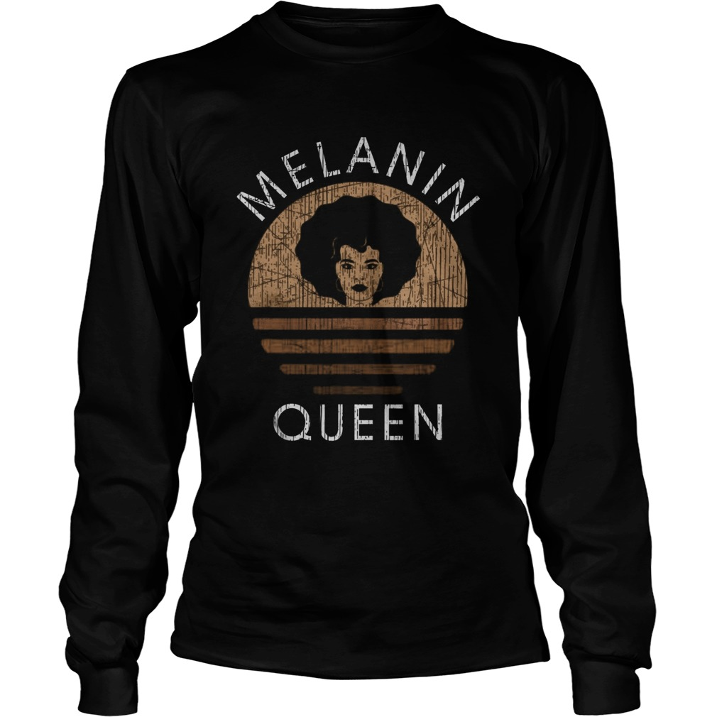 Melanin Queen African American Unapologetically Dope  Long Sleeve