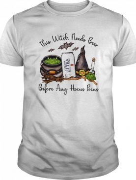 Michael Ultra This Witch Needs Beer Before Any Hocus Pocus shirt