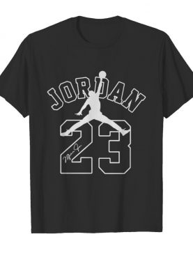 Michael jordan 23 chicago bulls basketball player signature shirt