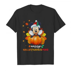Mickey Mouse Pumpkin Happy Hallothanksmas shirt