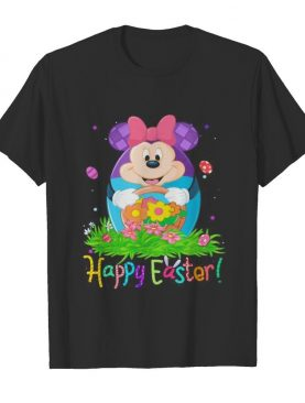 Minnie mouse happy easter flower shirt