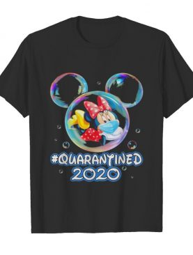 Minnie mouse wear mask quarantined 2020 shirt