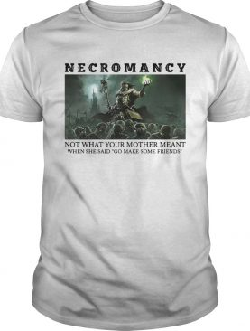 Necromancy Not What Your Mother Meant When She Said Go Make Friends shirt