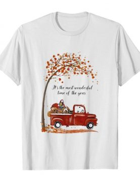 Nightmare riding car it's the most wonderful time of the year leaves tree shirt