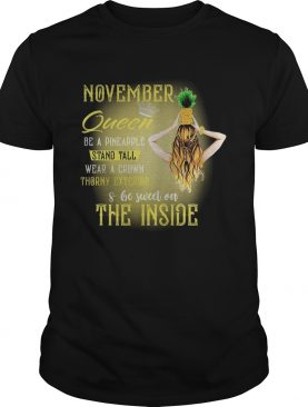 November queen be a pineapple stand tall wear a crown throny exterior and be sweet on the inside sh