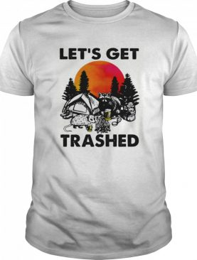 Raccoon let's get trashed sunset shirt
