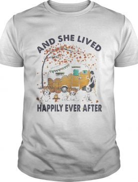 SHIH TZU HALLOWEEN AND SHE LIVED HAPPILY EVER AFTER shirt
