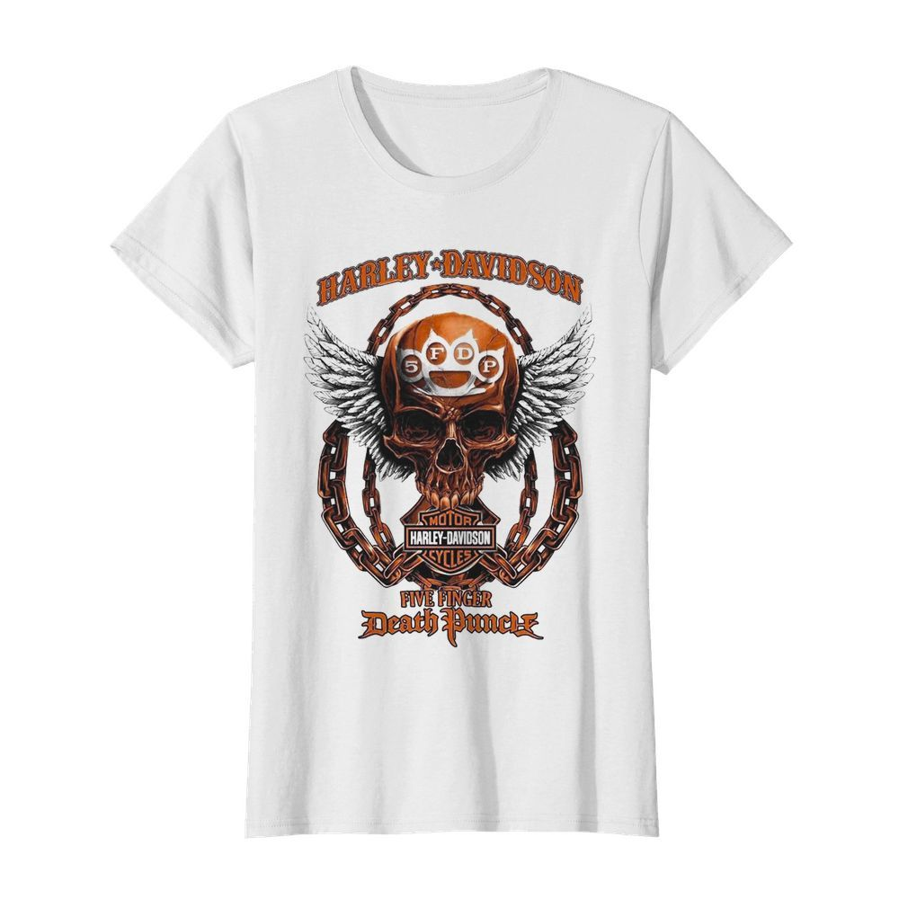Skull Harley Davidson Motorcycles Five Finger Death Punch  Classic Women's T-shirt