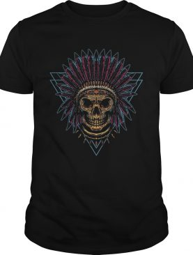 Skull Indian Triangle Day Of The Dead Vintage shirt