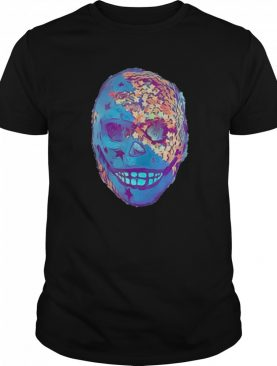 Skull Mexican Portrait Black And Gold shirt