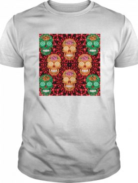 Skull Succulent Plant Head Day Of Dead Muertos shirts