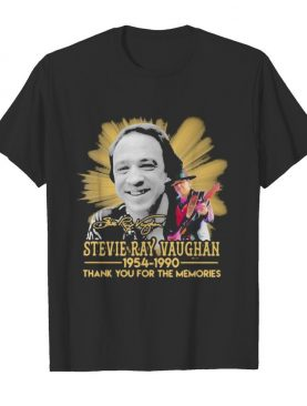 Stevie ray vaughan 1954 1990 thank for the memories signature shirt