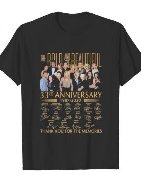 The bold and the beautiful 33rd anniversary 1987 2020 thank for the memories signatures shirt
