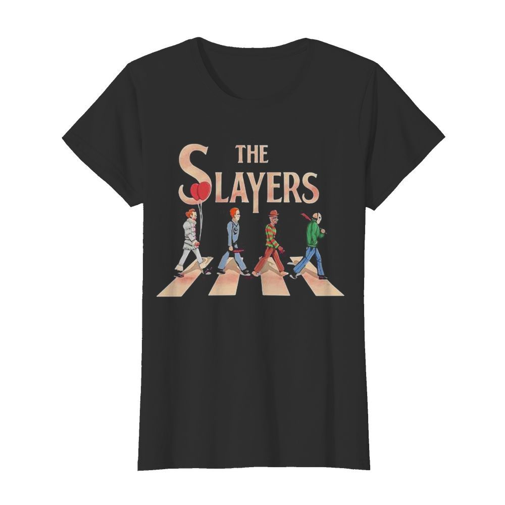 The slayers halloween horror characters crossing the line  Classic Women's T-shirt