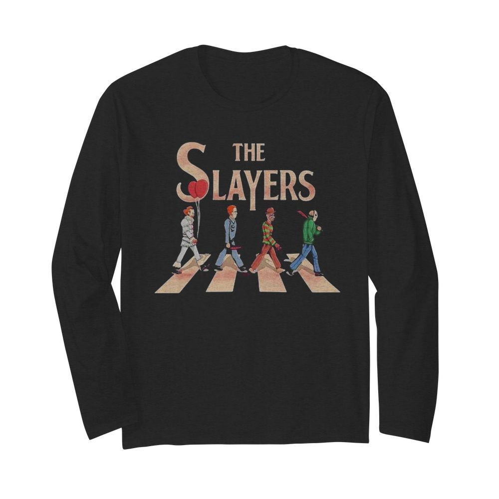 The slayers halloween horror characters crossing the line  Long Sleeved T-shirt