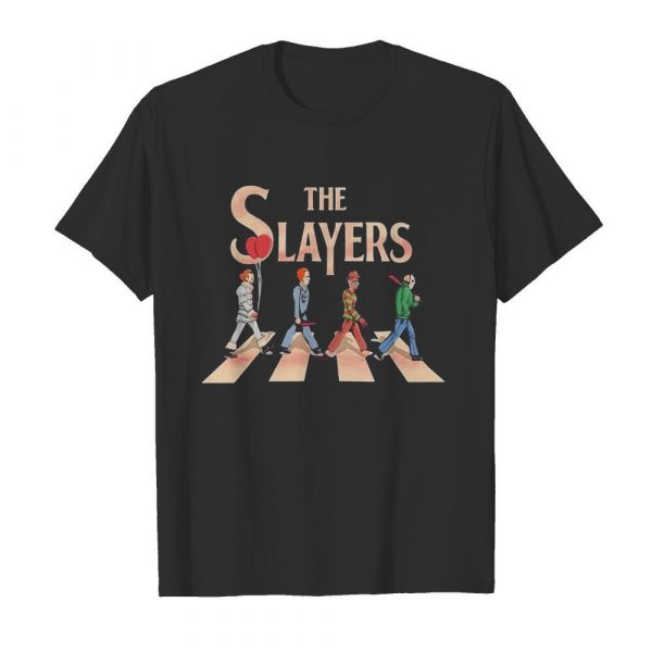 The slayers halloween horror characters crossing the line shirt