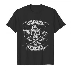 Vikings skull sons of odin valhalla shirt
