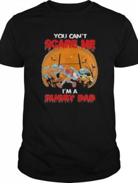 You Can't Scare Me I'm A Rugby Dad Moon Halloween shirt