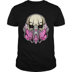 skull gas mask awesome graphic shirt