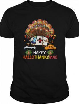 Nurse Happy Hallo Thanks Mas Halloween Christmas shirt