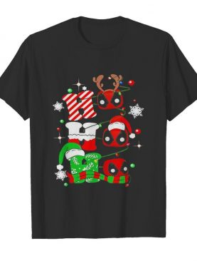 Christmas deadpool santa ho ho ho shirt