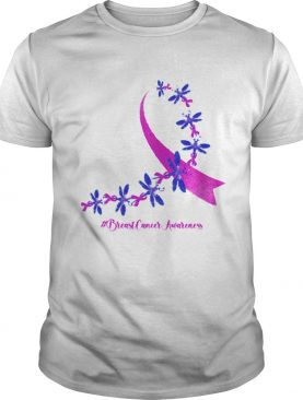 Dragonfly Breast Cancer Awareness Ribbon Pink shirt