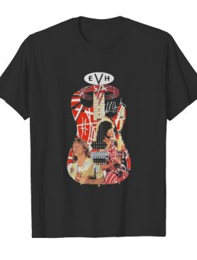 Eddie van halen playing guitar signature vintage shirt