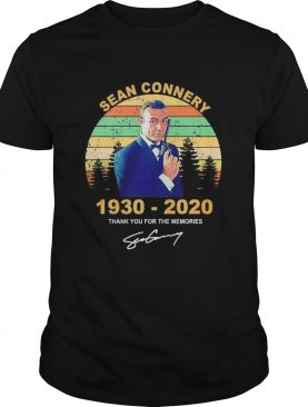 James Bond Sean connery 19302020 thank you for the memories signature vintage shirt