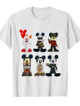 Mickey Mouse Style Horror Character Halloween shirt