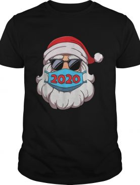 Santa Claus Face Mask Glasses 2020 shirt