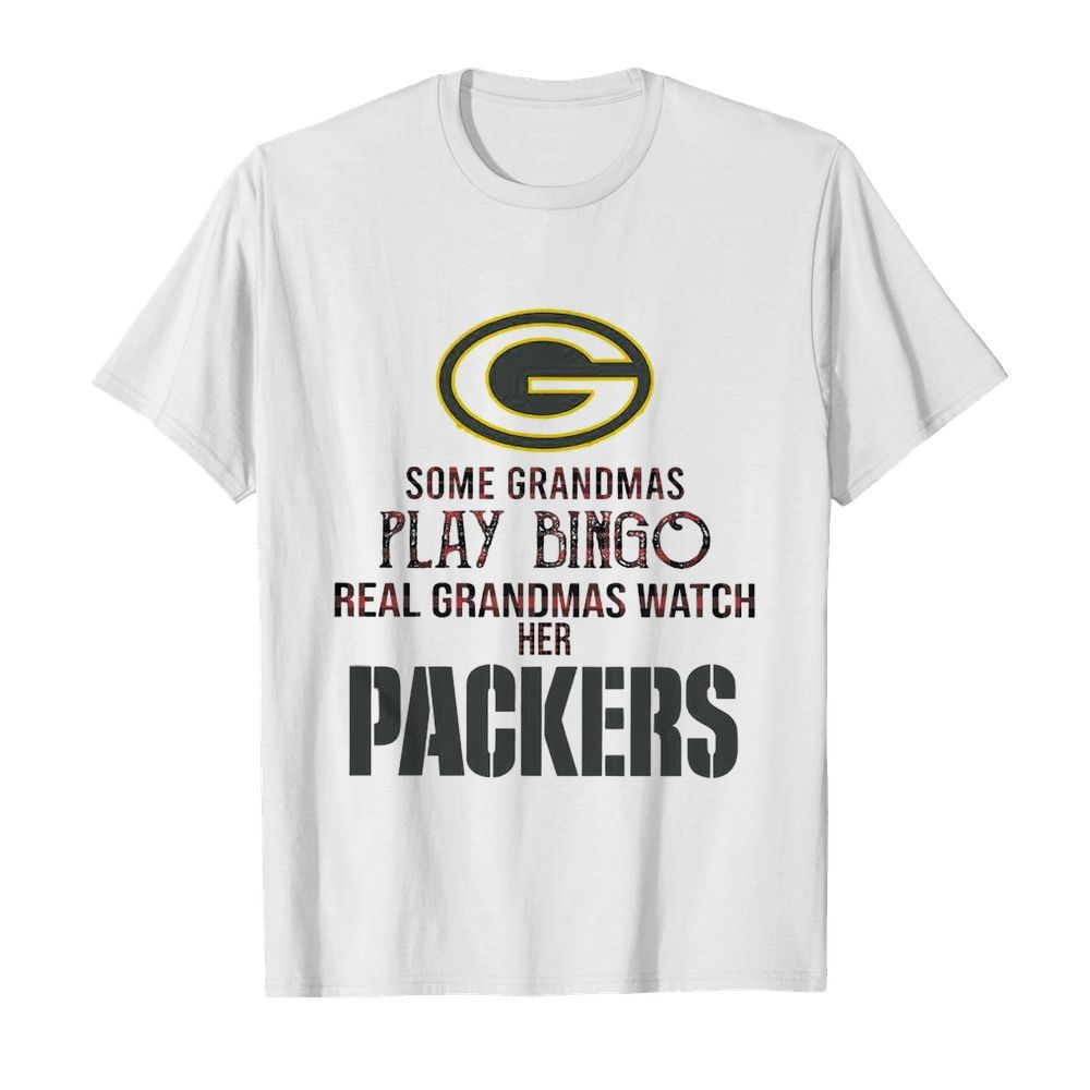 Some Gramdmas Play Bingo Real Grandmas Watch Her Packers  Classic Men's T-shirt
