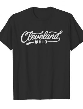 Special Edition Pink Cleveland Script Icons shirt