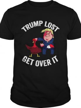Trump Lost Get Over It Trump Dacing With Turkey shirt