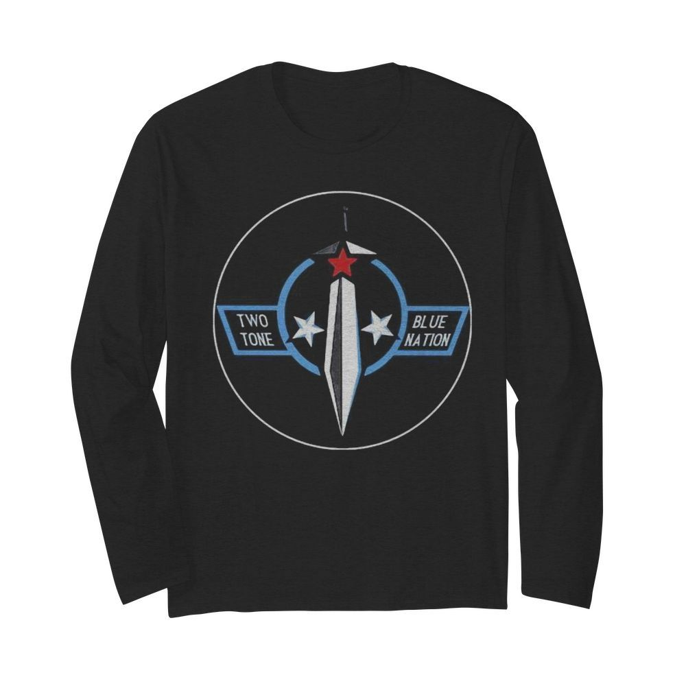 Two tone blue nation stars  Long Sleeved T-shirt