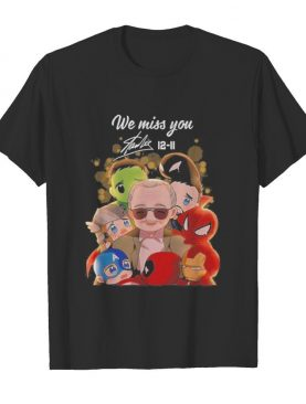 We miss you stan lee 12 11 marvel heroes chibi signature shirt