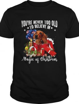 Youre Never Too Old To Believe In Magic Of Christmas shirt