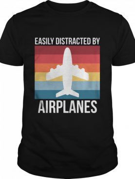 Easily Distracted By Airplanes Vintage shirt