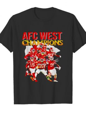 Kansas City Chiefs AFC west champions signatures shirt