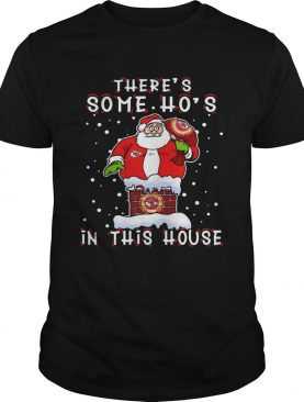 Kansas City Chiefs Christmas There Is Some Hos In This House Santa Stuck In The Chimney NFL Youth s