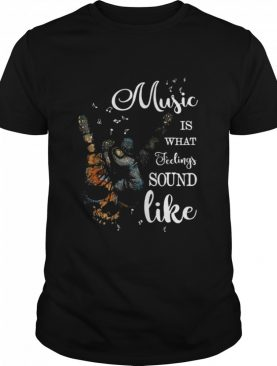 Music Is What Feelings Sound Like Peace shirt